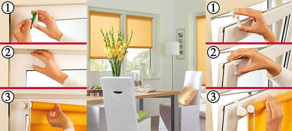 Рулонные шторы на окна: выбор готовых, установка самостоятел.